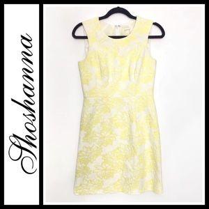 Shoshanna Yellow White Floral Dress